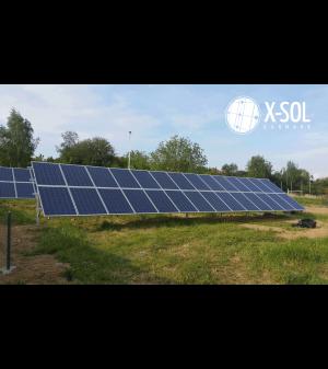7,2kWp solcelleanlæg på jord