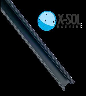 Sort monteringsskinner til solceller