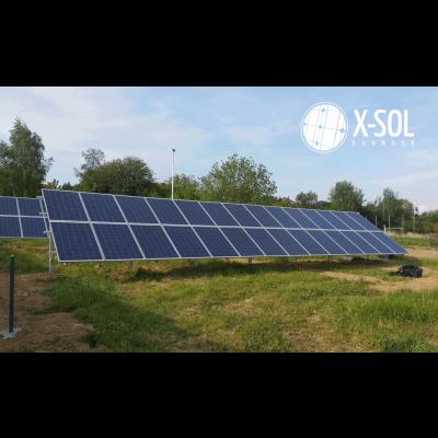 12,6 kWp solcelleanlæg på mark