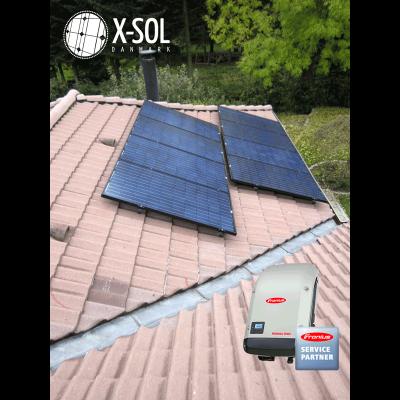 2,4 kWp solcelleanlæg Fronius inverter