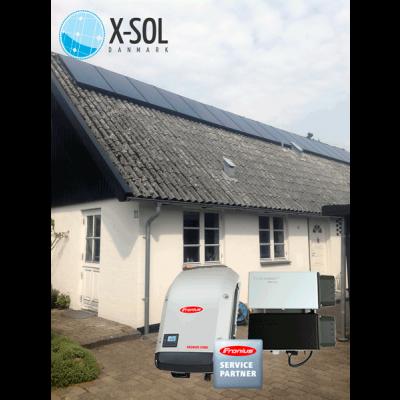 4,2 kwp Hybrid solcelleanlæg med batteri