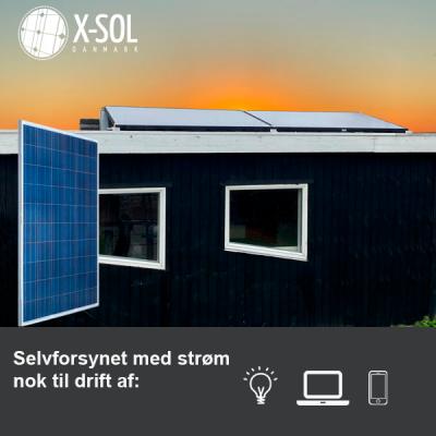 Solcelleanlæg til kolonihavehus