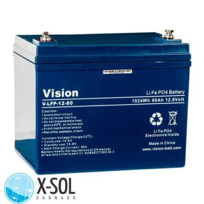 80 Ah Lithium batteri 12v