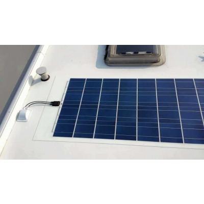 montage af solcelle på campingvogn X-Sol Danmark