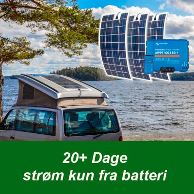 FlexLight solcelle 20+ dage strøm fra batteri