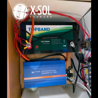 montering af batteri i campingvogn