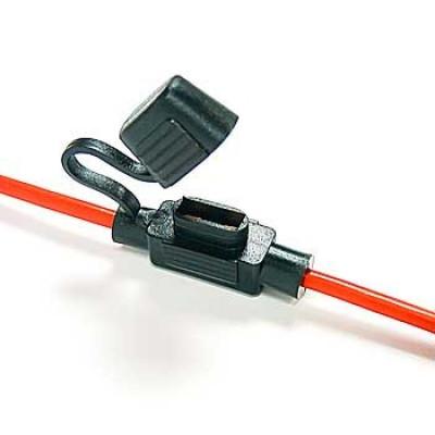 Sikringsholder til mini fladstikssikring med kabel