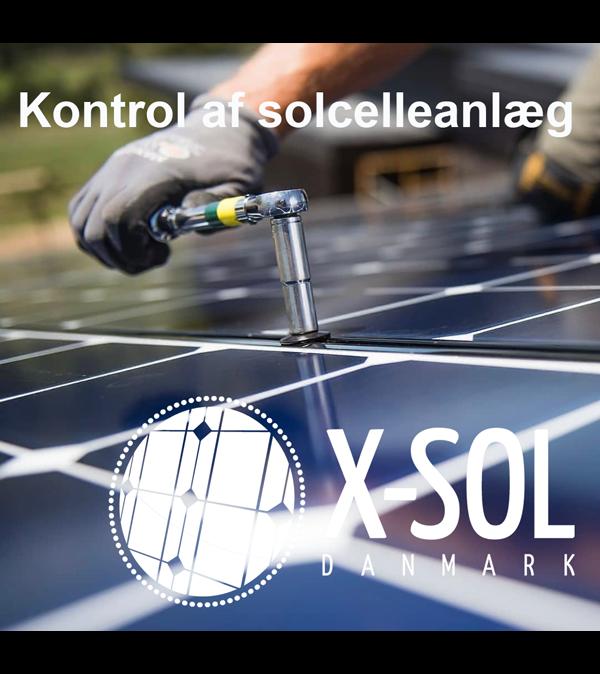 Kontrol af solcelleanlæg X-Sol Danmark