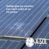 Defekt solcelle knust glas
