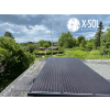 Solcelle monteret på tag kolonihavehus