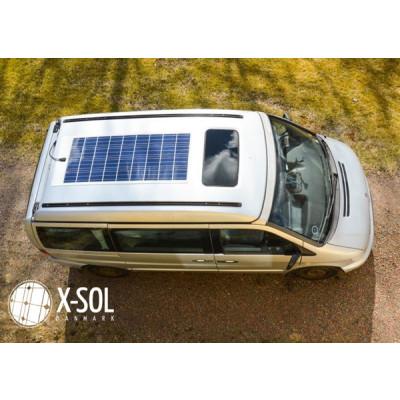 Komplet anlæg solcelle og lithium batteri