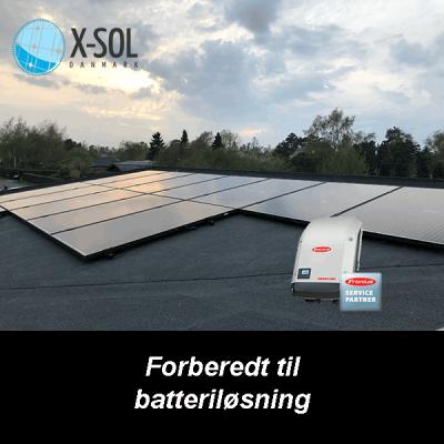 3,6 kWp solcelleanlæg med Fronius inverter