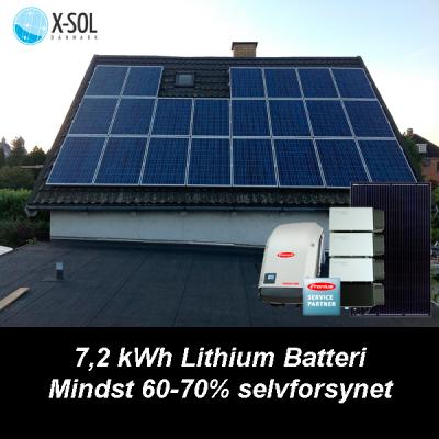 6,6 kWp hybrid solcelleanlæg med batteri