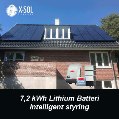 7,2 kWp hybrid solcelleanlæg med batteri