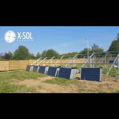 7,2 kWp solcelleanlæg på mark