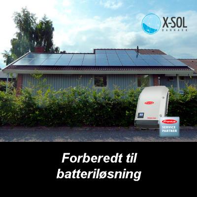 9 kWp solcelleanlæg Fronius inverter