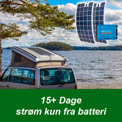 FlexLight solcelle 15 dage strøm kun fra batteri