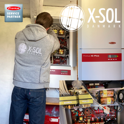 Kontrol af inverter solcelleanlæg Fronius service partner
