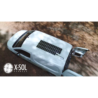 Solcelle, Lithium batteri og inverter til varevogn