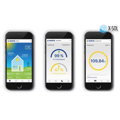Varta App kontrol fra smartphone