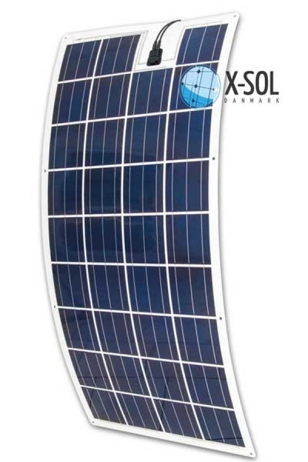 Fleksibel solcelle 150watt  X-SOL Danmark