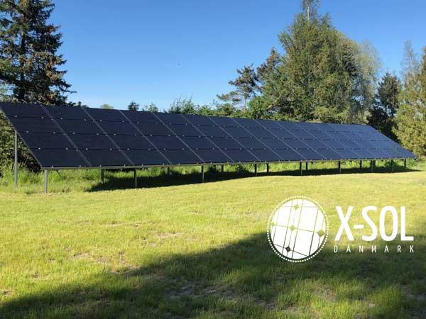 18 kWp solcelleanlæg på mark