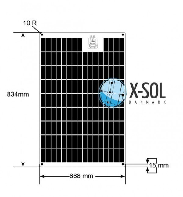 75watt FlexLight solcelle specifikation