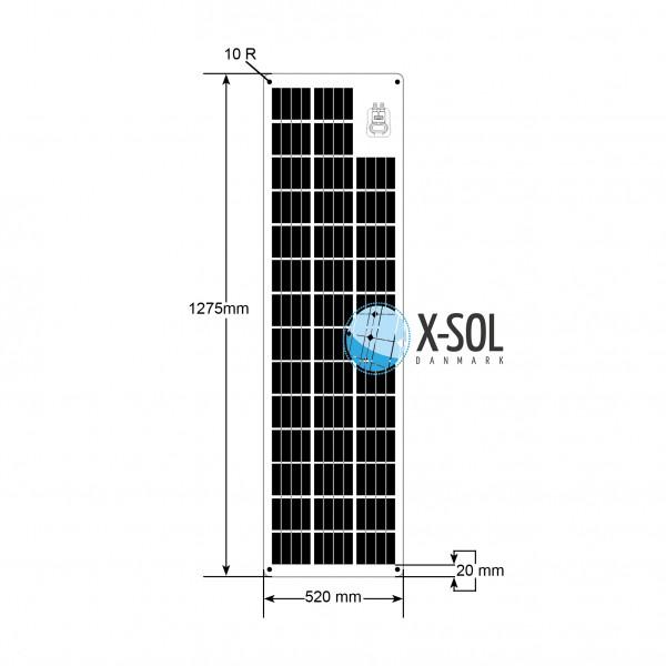 90watt Flex light solcelle tegning