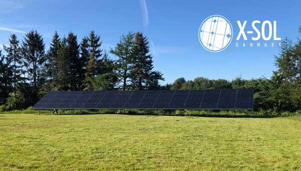 Solcelleanlæg til mark