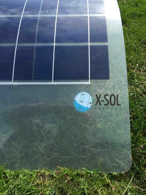 Flex solceller Transparent bagside