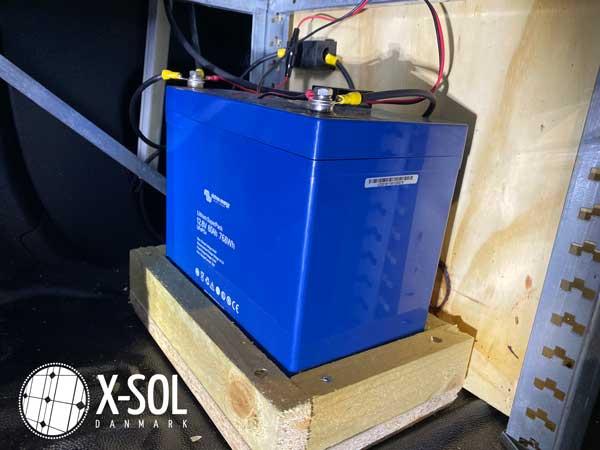 Forbrugsbatteri i servicevogn
