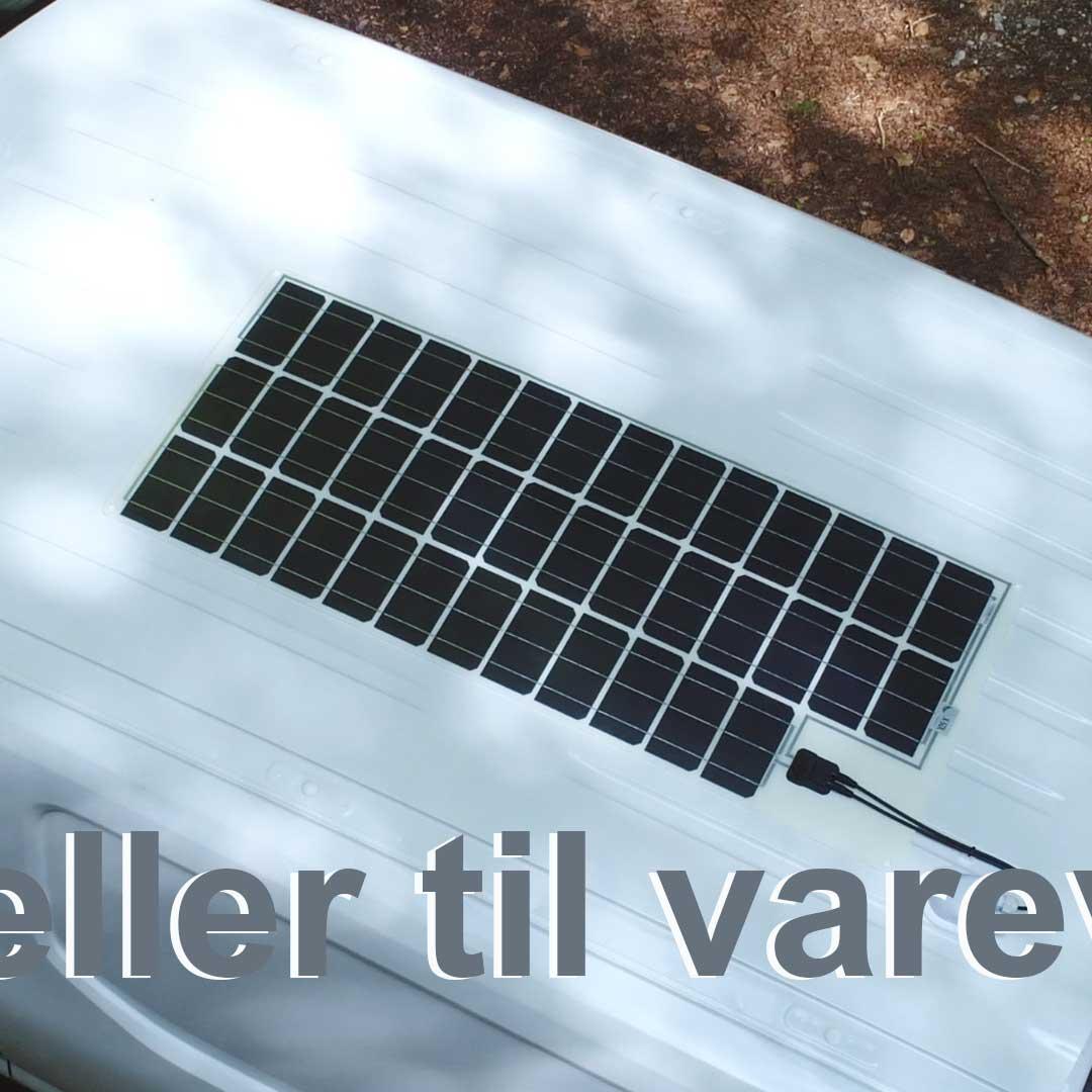 Solceller til servicevogn