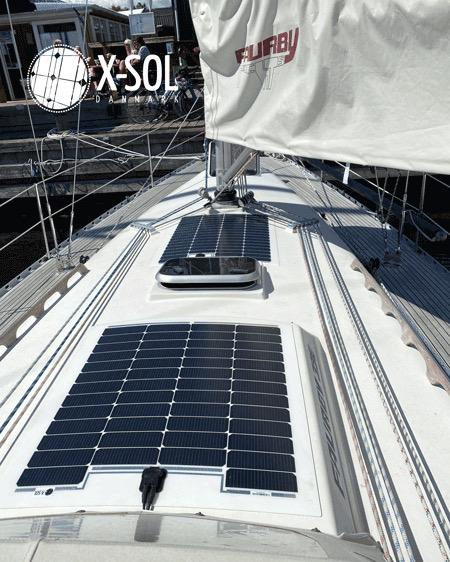 Solceller efter mål til båd